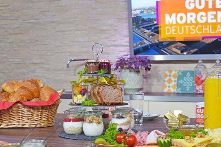 """Auf dem Bild zu sehen: EarlyTaste zu besuch bei """"Guten Morgen Deutschland"""" von RTL"""